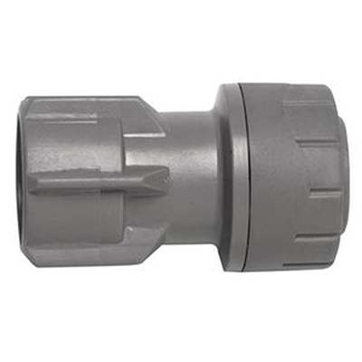 PolyPlumb 15mm x 1/2inch Hand Tighten Tap Connector