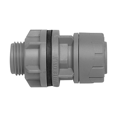 PolyPlumb 15mm x 1/2inch Tank Connector