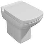 Eden Back-to-Wall WC Pan and Soft Close Seat