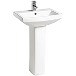 Nevada 550 1 Tap Hole Basin and Pedestal