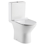 Venice Rimless Close Coupled Pan with Open Sides and Soft Close Seat